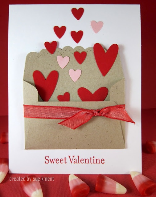 could also be a birthday or thank you card sues stamping stuff a quick stampin up valentine and another case too - Stampin Up Valentine Cards