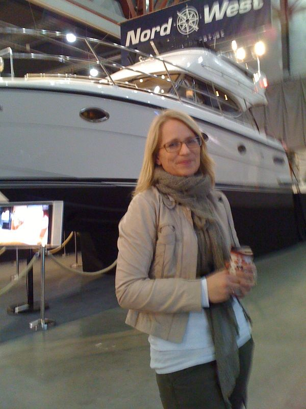 Hubbie loves boats! So we were at the Boat Fair in March 2011.
