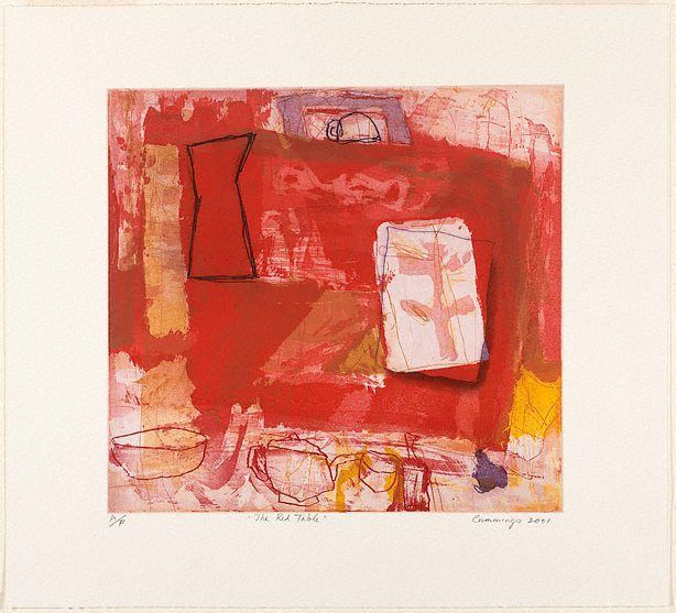 An image of The red table by Elisabeth Cummings