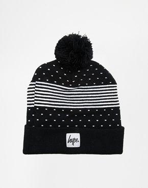 Hype Stripe Polka Beanie Hat