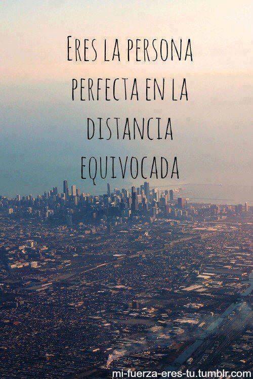 La distancia.....