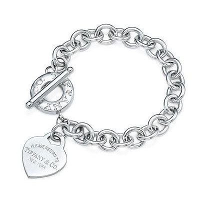 Tiffany And Co Outlet Elegant Engraved Heart Tag Toggle Bracelet,Tiffany Outlet,With Great Promotional Price & Free Shipping!