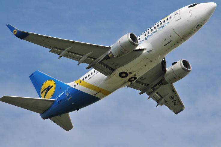 Ukraine Internation Airlines Boeing 737 taking off @ Schiphol Airport