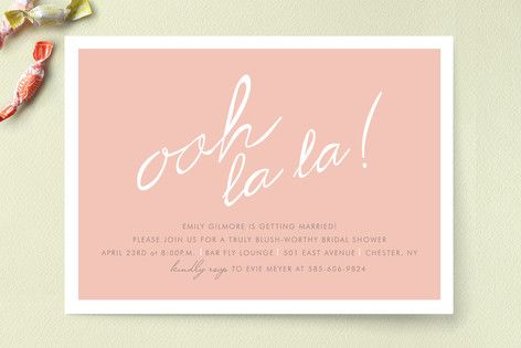 "Make Her Blush Bridal Shower Invitations.... Ooh! I so want to do these for the ""after party""... classy & racy!!"