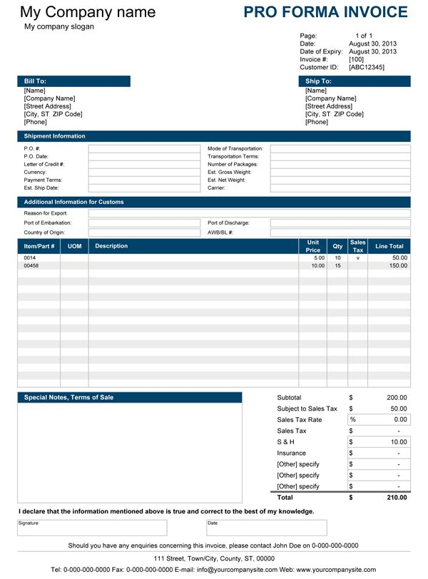 Pro Forma Invoice Small Business Pinterest Apple S