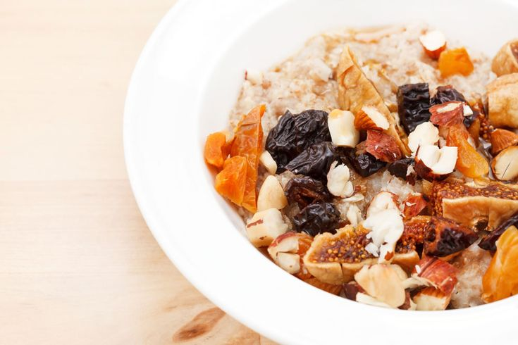 Maple Syrup Dried Fruit Compote Porridge
