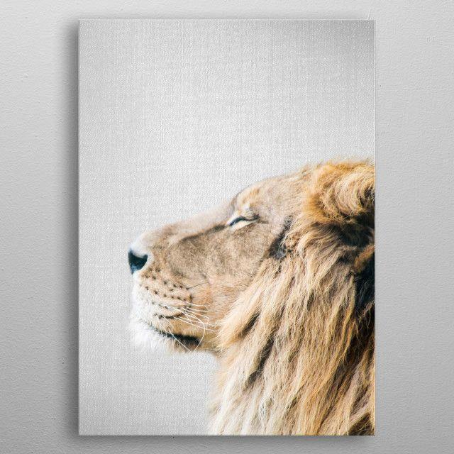 drawing unframed Large African Lion totem animal art print