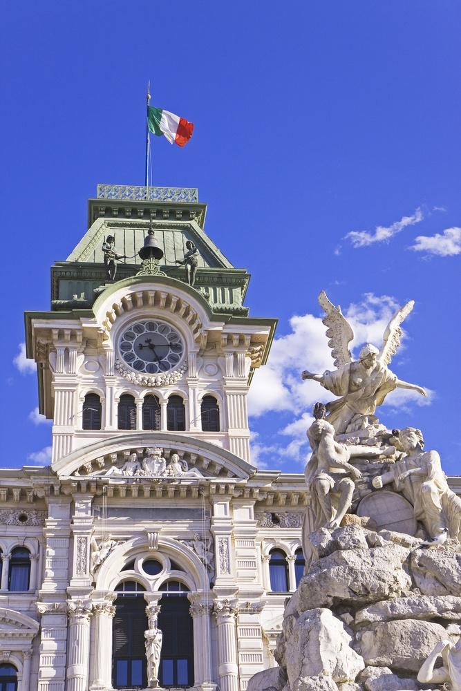 Municipal building of Trieste - Piazza Unità d'Italia. Palazzo del Municipio, Italy