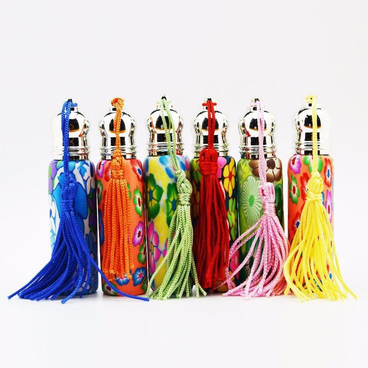 [Visit to Buy]  10 ml glass roll on bottles for sale , Fimo clay perfume bottles , tassels glass perfume bottle wholesale #Advertisement