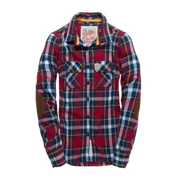 Superdry Western Lumberjack Shirt ($90) ❤ liked on Polyvore