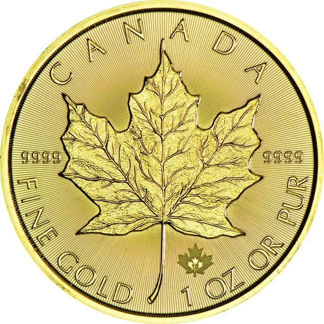 Maple Leaf 1 Unze Gold 2015,  9999/1000 Gold