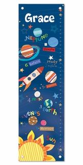 Outer Space Personalized Growth Chart
