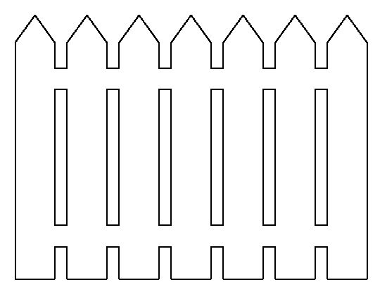 Picket fence pattern Use the printable outline for crafts