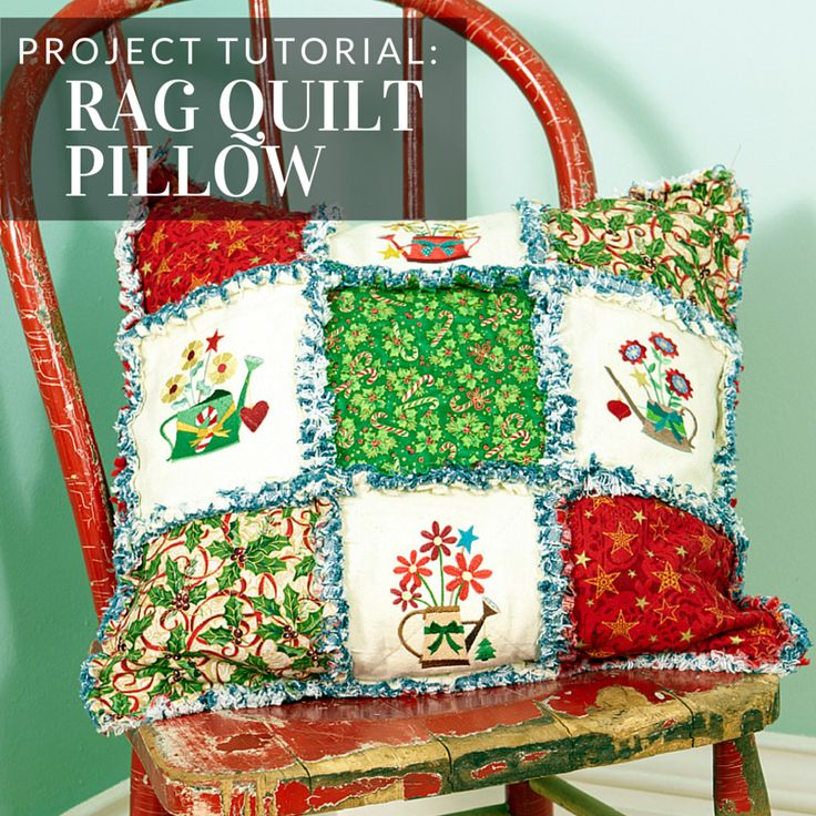 This pillow uses classic quilting techniques for a