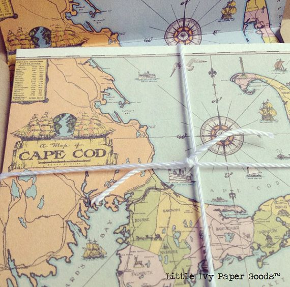 Perfect save-the-dates for a Cape Cod wedding or get-together. So cute.