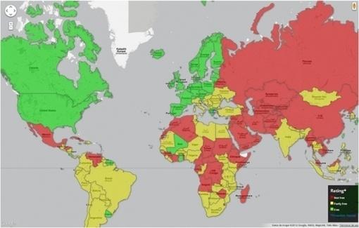 Mapa mundial de la situación de la libertad de prensa 2012: The Game, Los País, Las Plataforma, Communication, Change, The Middle, Actually De, Of The, Ayudado Las