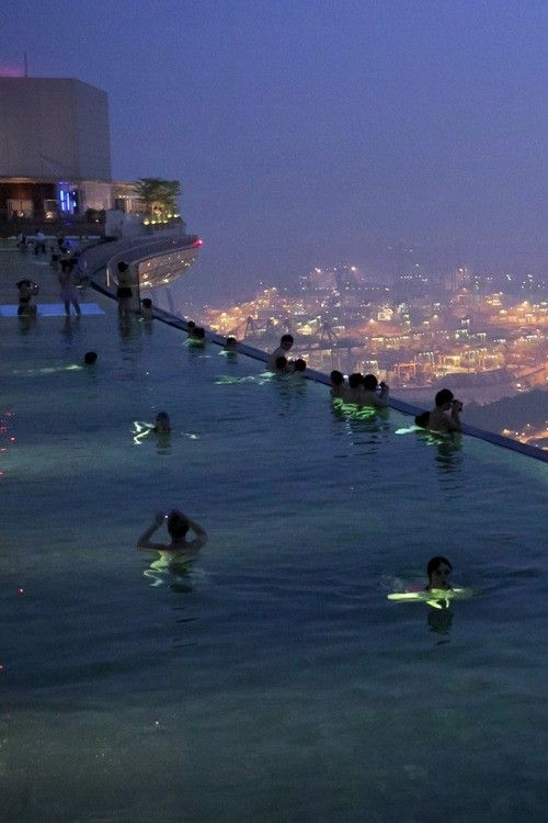 Marina Bay Sands Skypark Swimming Pool, Singapore by nannie