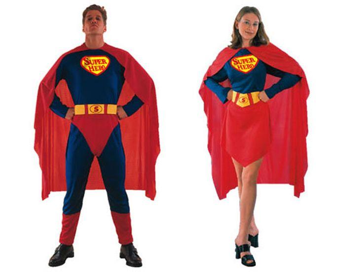 Pareja Disfraces de Superhéroes #parejas #disfraces #carnaval
