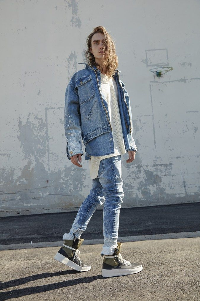 Fear Of God Fifth Collection Jerry Lorenzo Jeans Mens Outfits Mens Street Style Streetwear Fashion
