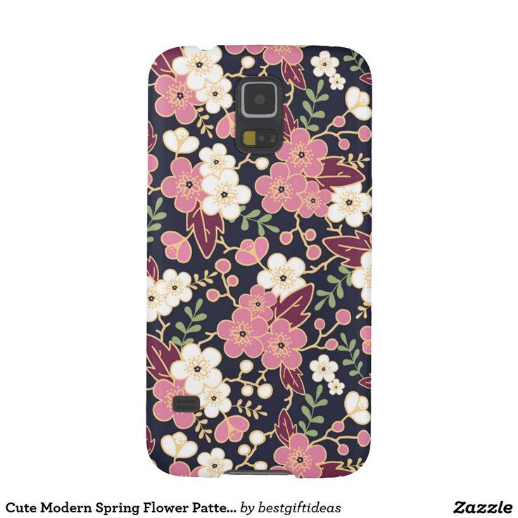 Cute Modern Spring Flower Pattern Girly Floral Samsung Galaxy S5 Case