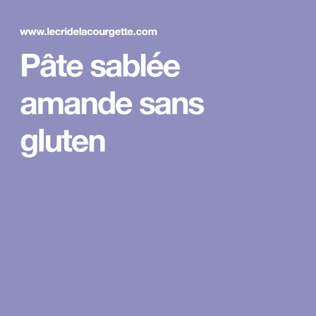 Pâte sablée amande sans gluten