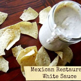 Mexican Restaurant White Sauce