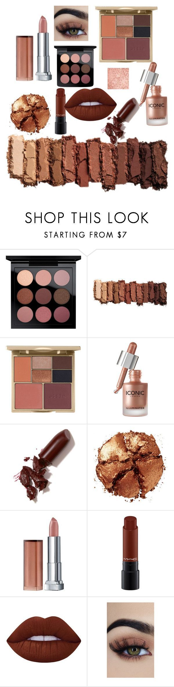 Browns and Coppers fall makeup by rosegoldpearls featuring beauty products from Urban Decay, Stila, MAC Cosmetics, Maybelline, Lime Crime,  and NYX *affiliate link included
