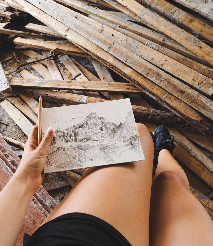 @brookeartstudio // draw on the road #travel #drawing #priorities #art #creative #draw #mountains #sketch #sketching