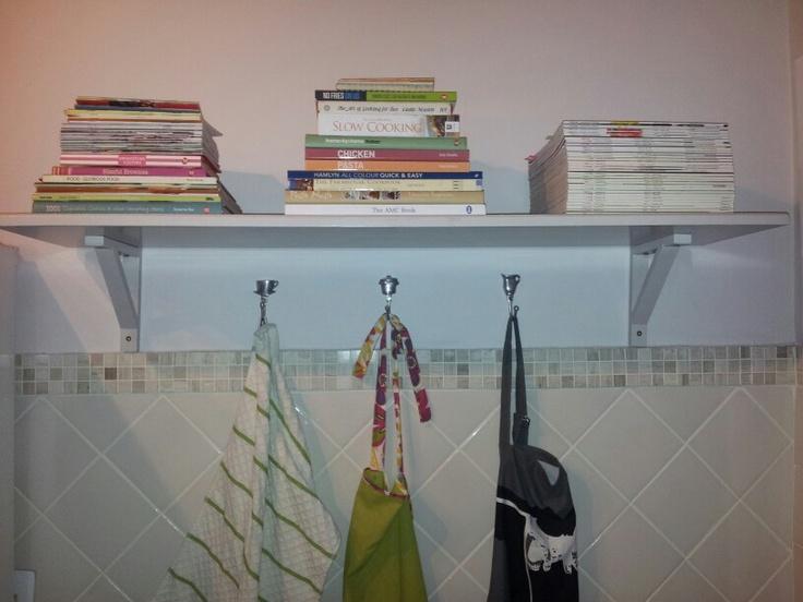 Kitchen shelf - after - recipe books