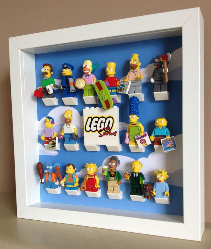 Stunning Lego Simpsons Series 16 Minifig Figure Display Case Frame Custom Title
