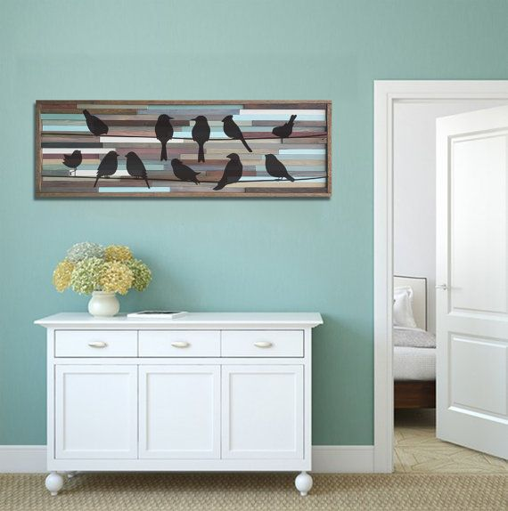 Reclaimed Wood Wall Art 18x39, Birds on a Wire - 73 Best T&K Reclaimed Wood Art & Decor Images On Pinterest