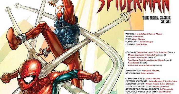 SPIDER-MAN THE CLONE SAGA [TPB] [ENG] 2010  Funeral por Octopus Esta serie se encuadra entre el Nº10 y el Nº11 del Spiderman Vol2 y antes de la segunda historia de Spiderman y La Araña Escarlata. El Dr. Octopus ha muerto asesinado por Kaine sin embargo con su muerte no han terminado sus intrigas. Su herencia pasa a un primo suyo Elias Hargrove al cual por medio de una cinta de video le da instrucciones de lo que tiene que hacer para conseguir su botín. Éste contrata a los Seis Siniestros…