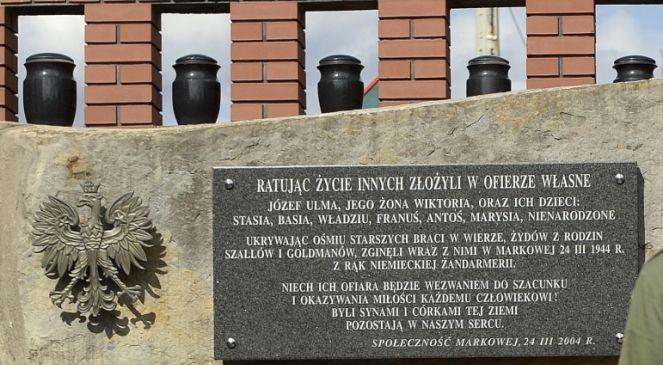 Pomnik rodziny Ulmów i pozostałych ofiar zbrodni niemieckiej w Markowej