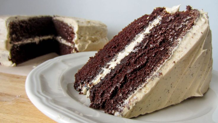Mocha Cake with Coffee Frosting | Coffee Treats | Pinterest