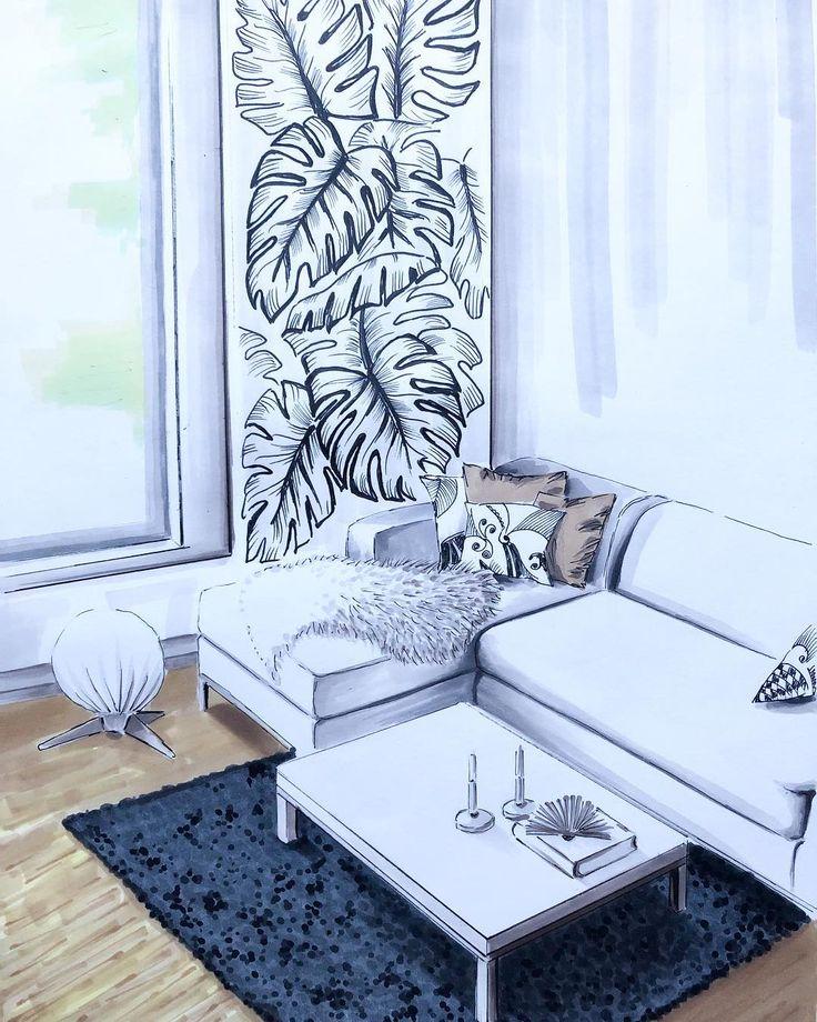 Art i n Art • • • • #upbeatgraphics #oulu #finland #art #illustration #drawing #markers #interior #interiordesign #sketch #interiorsketch #interior4all #livingroom #homedecor #skandinaviskehjem #modern #sisustussuunnittelu #sisustus #sisustusinspiraatio #olohuone #juliste #интерьерныйскетчинг #дизайнинтерьера #скетч #эскиз #маркеры #иллюстрация #декор #walldesign #design