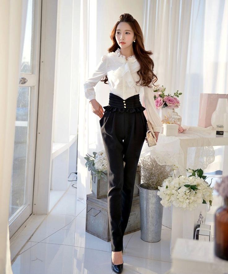 Black+High+Waist+Designer+Pants
