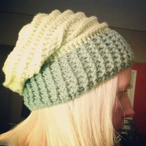 2-tone green riptide slouch hat