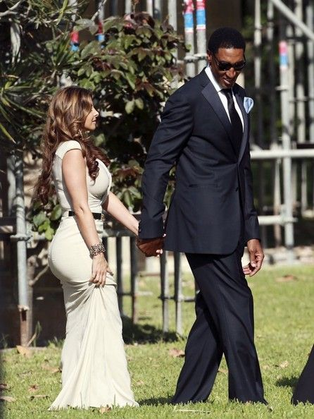 Basketball legend Michael Jordan marries Yvette Prieto at Bethesda By The Sea Episcopal Church In Palm Beach, Florida on April 27, 2013. NBA greats Scottie Pippen and Patrick Ewing were among the guests in attendance along with Michael's mother, sons and other family and friends. Jordan, 50, and former model Prieto, 35, wed before 500 people in a ceremony at the beautiful church, notably used for the wedding of Donald Trump and Melania Knauss in 2005.