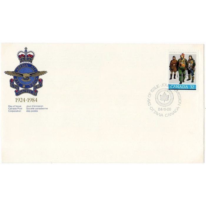 CANADA POST FDC SCOTT #1043 FIRST DAY COVER RCAF ROYAL CANADIAN AIR FORCE PILOTS. Buy it on eBid Canada   154682905