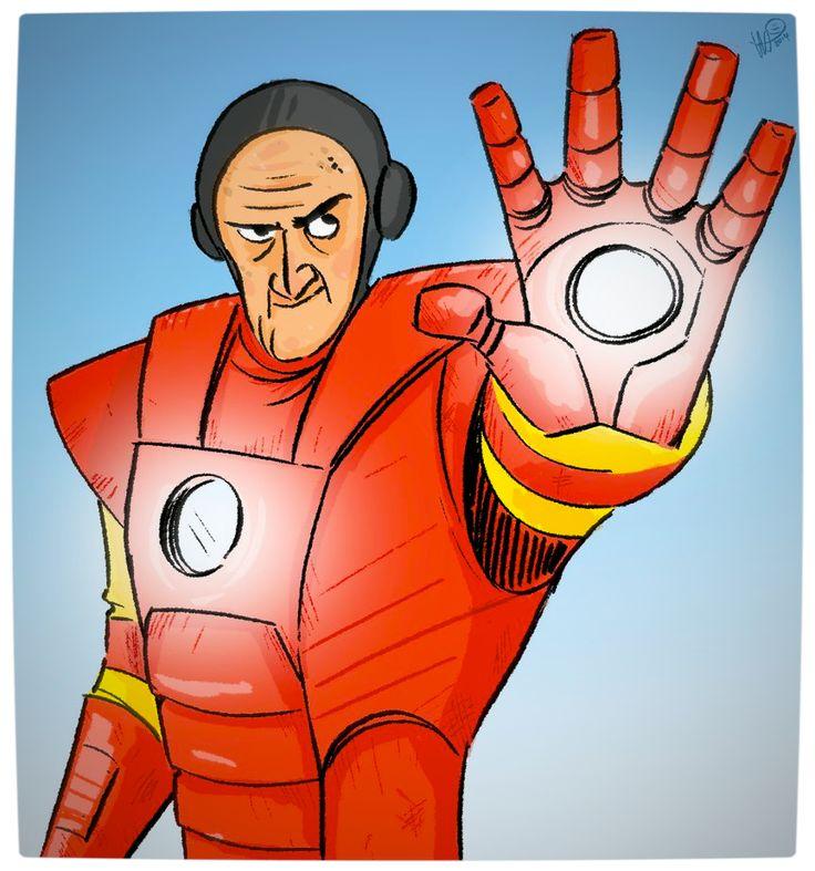 Vamers - Geekosphere - Artistry - Old Superheroes - Heroes in in their Golden Years - Art by Lelpel - Iron Man
