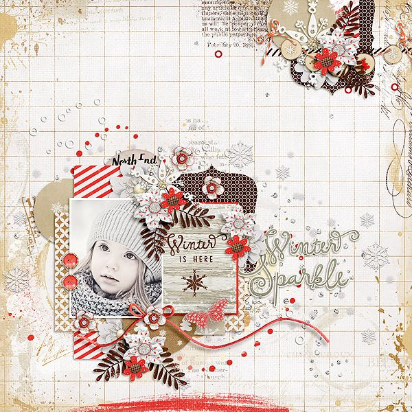 Layout by CTM Julie using {Hot Cocoa} Digital Scrapbook Template by Dagi's…