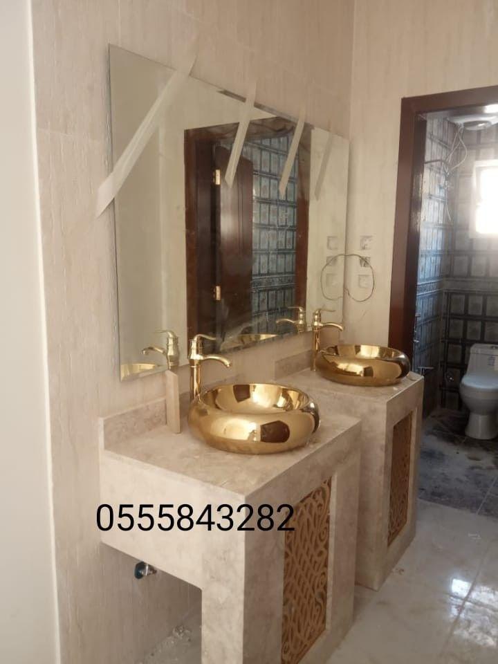ديكورات مغاسل رخام Framed Bathroom Mirror Bathroom Mirror Home Decor