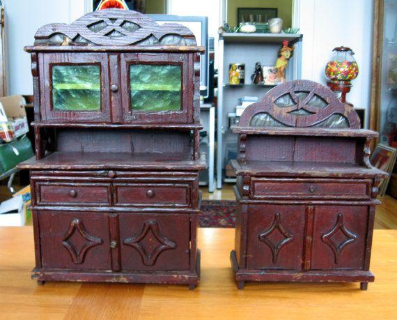 Antique Primitive Painted Child S Miniature Dresser: 1000+ Images About Antique Children's Chests And Dressers