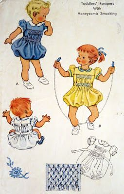 Mommy's Apron Strings: Smockin' It Old School: Vintage Transfers, part 1