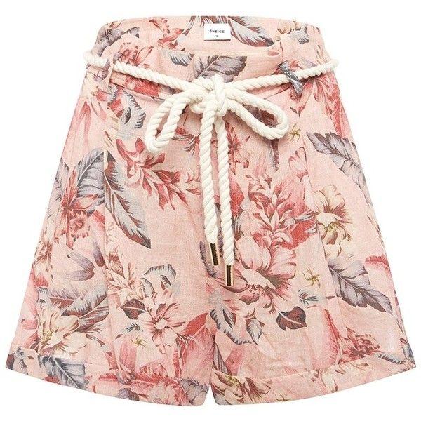 HAWAIIAN HAZE SHORT (1.058.080 IDR) ❤ liked on Polyvore featuring shorts, relaxed fit shorts, pocket shorts, floral printed shorts, relaxed shorts and floral print shorts