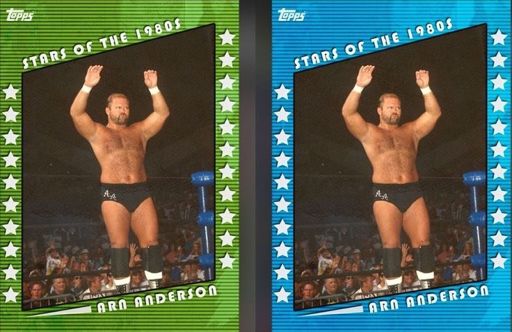 Topps WWE Slam Stars of the 1980s Arn Anderson Blue & Green 2X Digital Cards