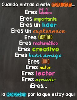 M&M Bilingual: Classroom Posters in Spanish… verbo #SER