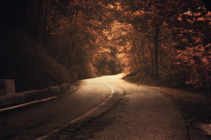 Fall Road by Taso Kosmidis on 500px