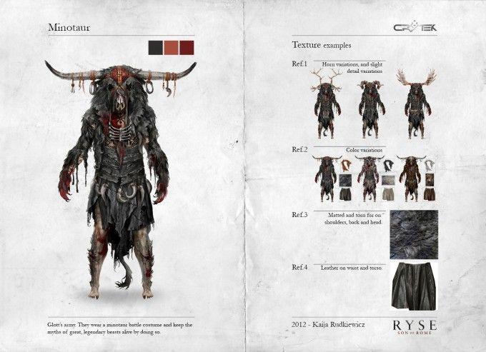 Concept Art World » Ryse: Son of Rome Character Concept Art by Kaija Rudkiewicz