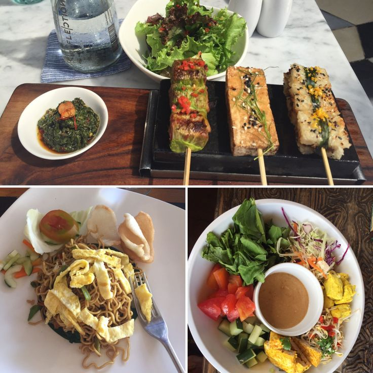 Aurora Indiscreta — Veggie Food em Bali (2) - Espetadas de tempe, tofu...